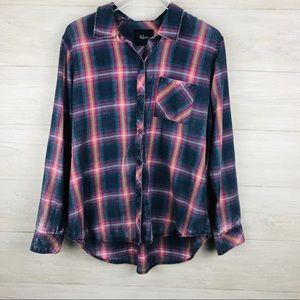 Rails Brightly Colored Plaid Button Up Shirt